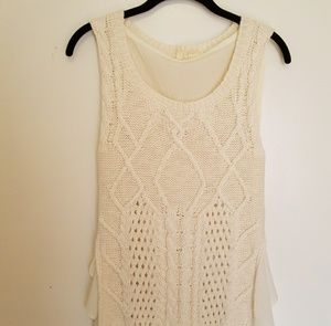 Anthropologie Moth cable knit sleeveless top